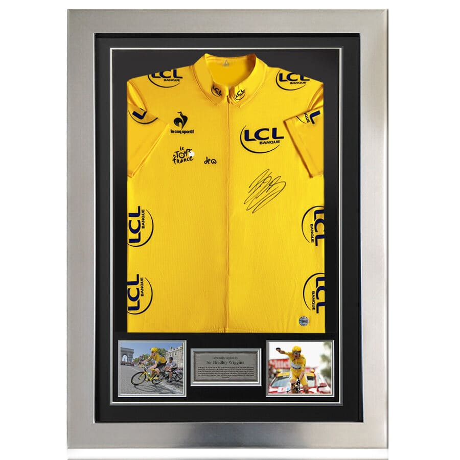Sir Bradley Wiggins Signed 2012 Tour de France Yellow Jersey