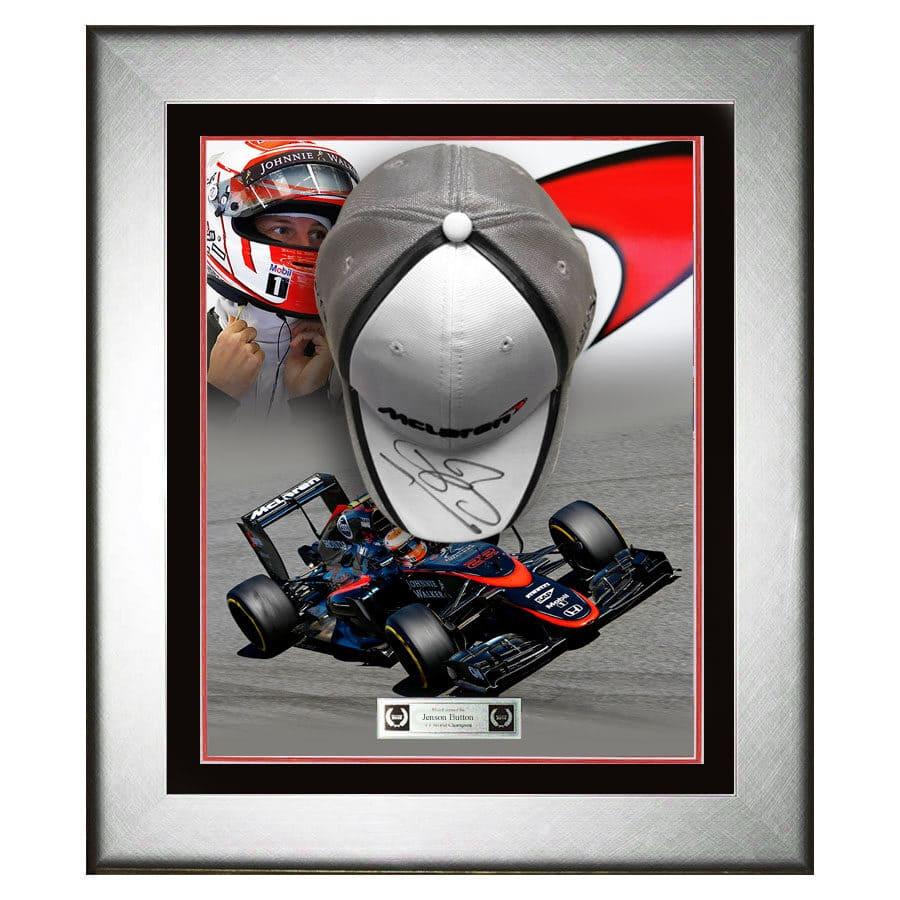 Jenson Button Signed McLaren Cap