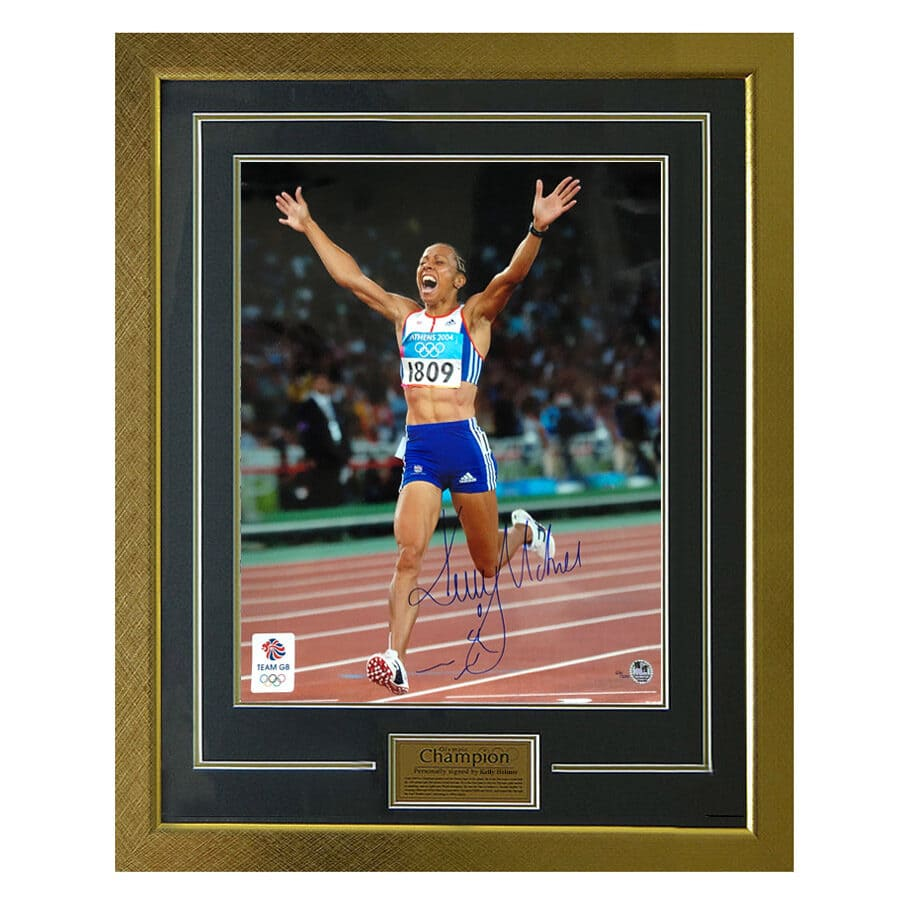 Dame Kelly Holmes Signed 2004 Olympic Photo