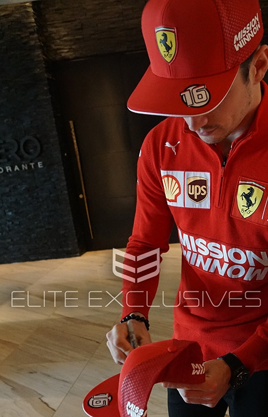 Charles Leclerc Signed Ferrari Cap