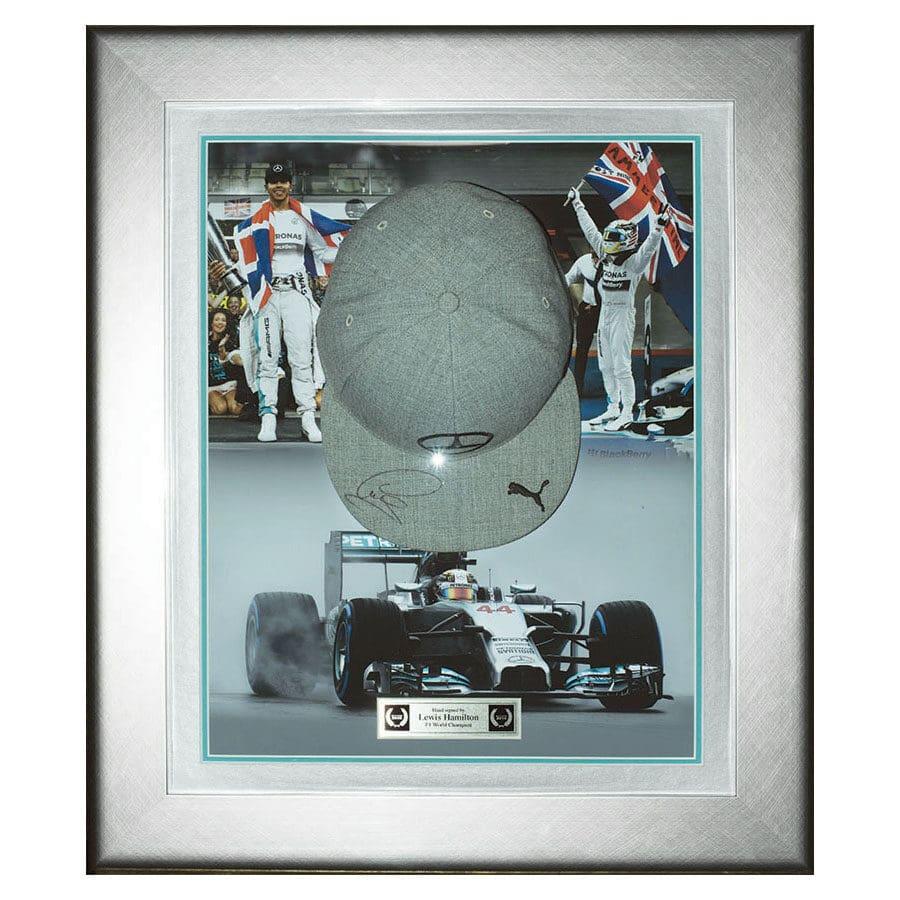 Lewis Hamilton Signed Mercedes Cap 2014