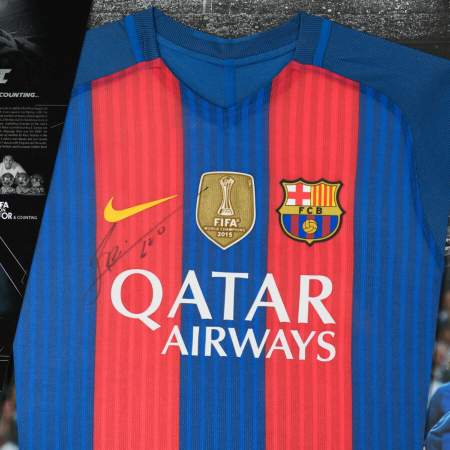 Lionel Messi Signed Player Issue Shirt Front