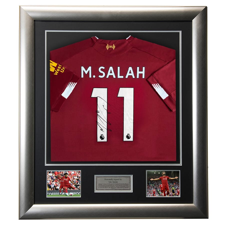 Mo Salah Signed Liverpool FC Shirt