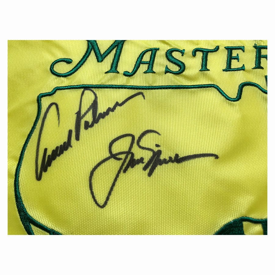 Jack Nicklaus & Arnold Palmer Signed Golf Flag