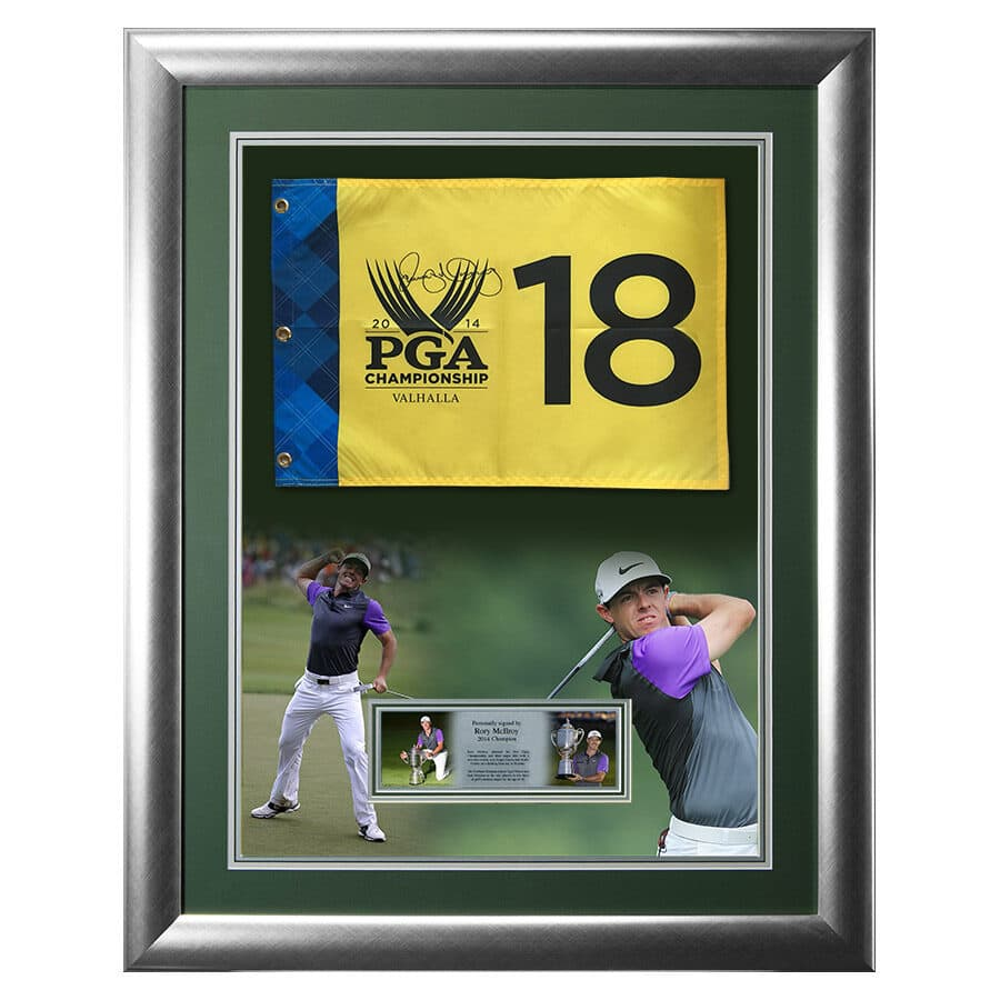 Rory McIlroy Signed Golf Flag