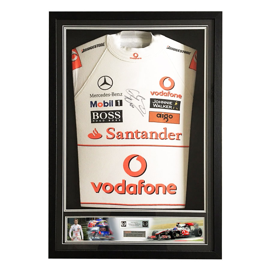 Jenson Button McLaren 2010 Silverstone GP Used Nomex
