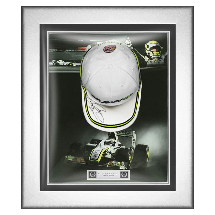 Jenson Button Signed Brawn GP Cap