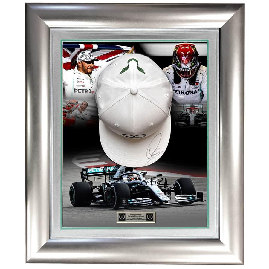 Lewis Hamilton Signed Mercedes Cap 2019 F1 World Champion