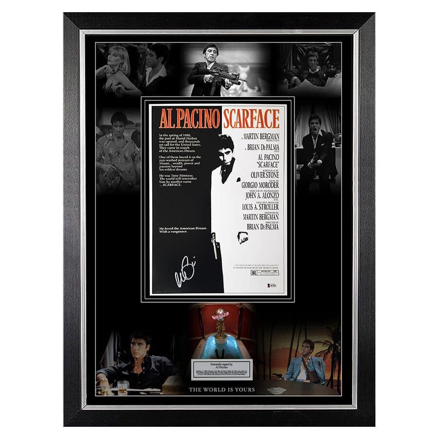 Al Pacino Signed Scarface Movie Display