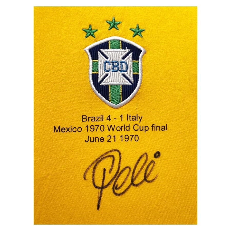 Pele Signed Brazil World Cup Winners Shirt