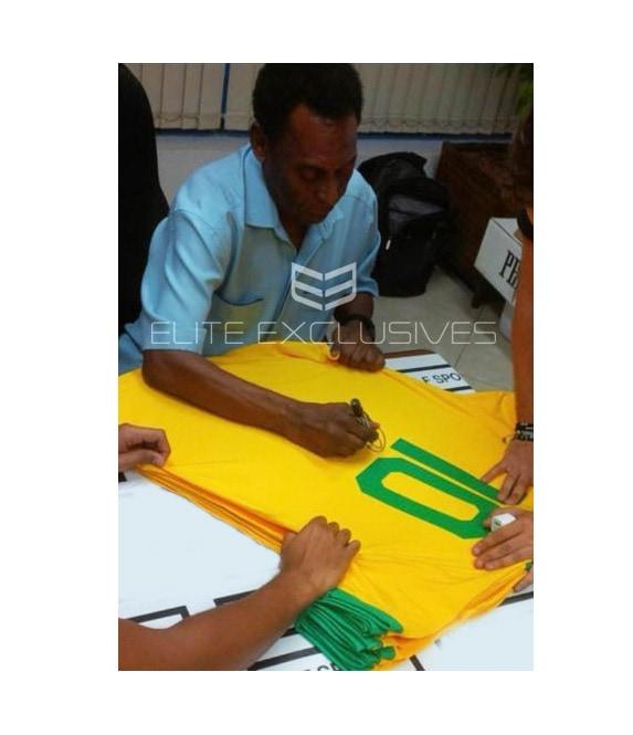 Pele Signed Brazil No.10 Shirt