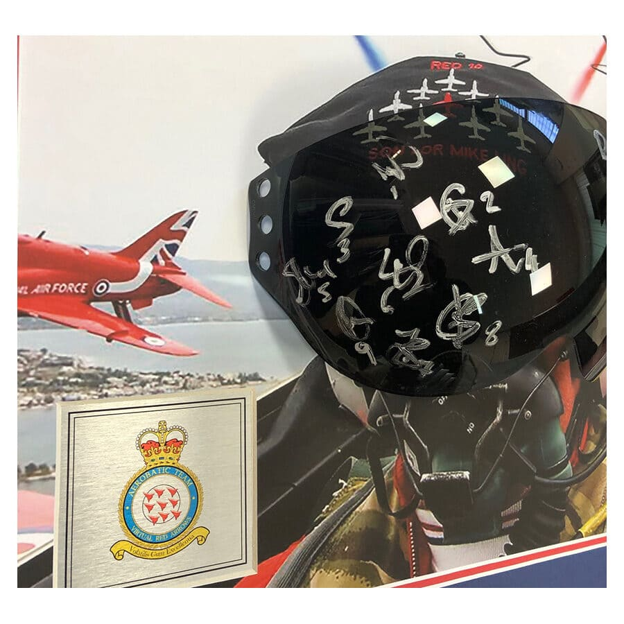Red Arrows Signed Visor Display