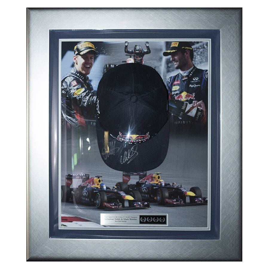 Sebastian Vettel & Mark Webber Signed Cap