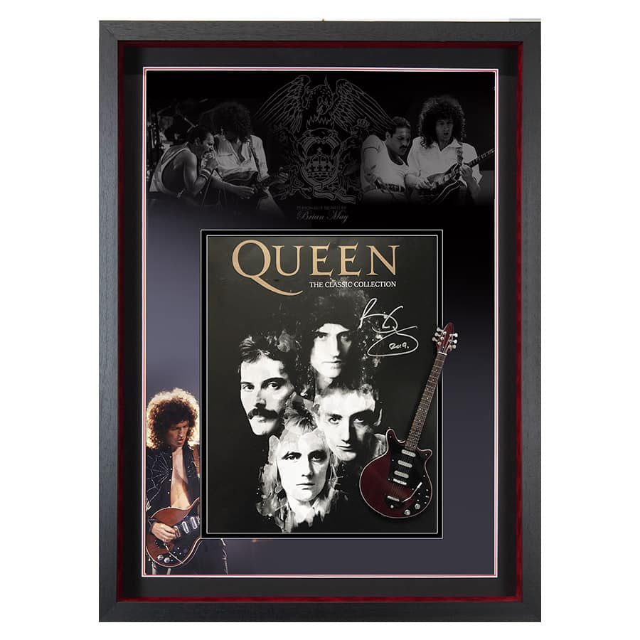 Brian May Signed Queen Picture Display