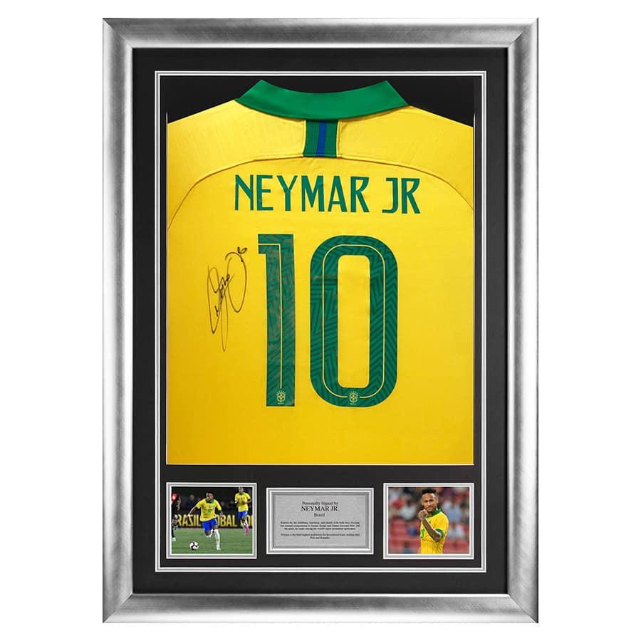 Neymar Jr Signed Brazil No.10 Shirt