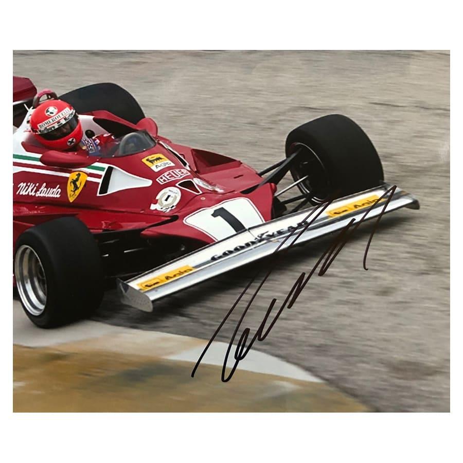 Niki Lauda Signed Ferrari Photo Display