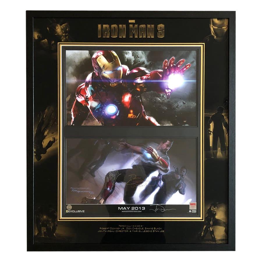 Iron Man Signed Robert Downey Jr, Stan Lee Movie Display