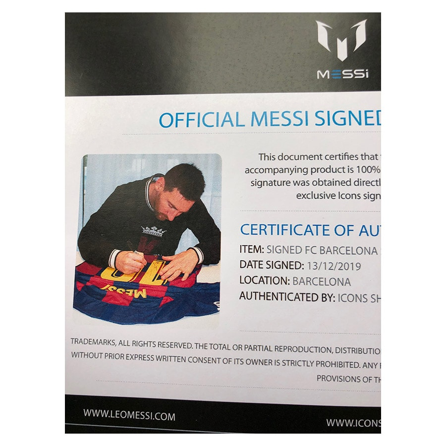 Lionel Messi Signed 2020 FC Barcelona Shirt