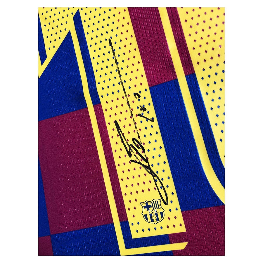 Lionel Messi Signed 2020 FC Barcelona Player Issue Shirt