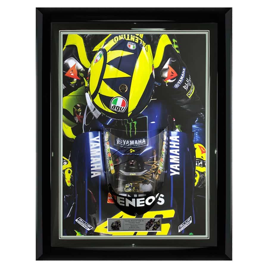 Valentino Rossi & Maverick Viñales Signed MotoGP M1 Screen