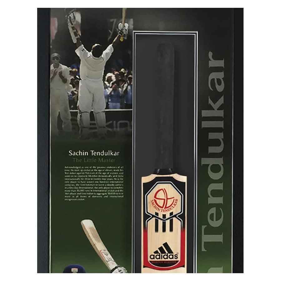 Sachin Tendulkar Signed Cricket Bat Display