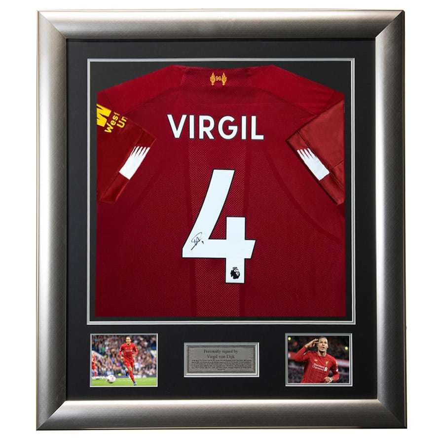 Virgil van Dijk Signed Liverpool FC Shirt
