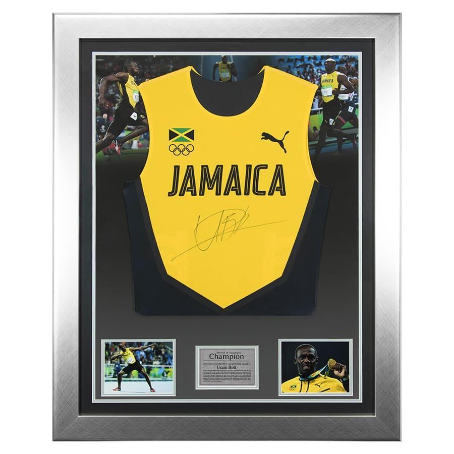 Usain Bolt Signed 2016 Rio Olympics Jamaica Singlet