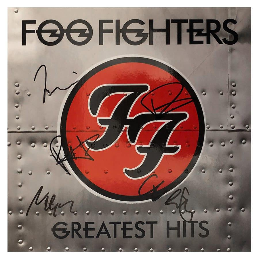 Foo Fighters Signed Album Display
