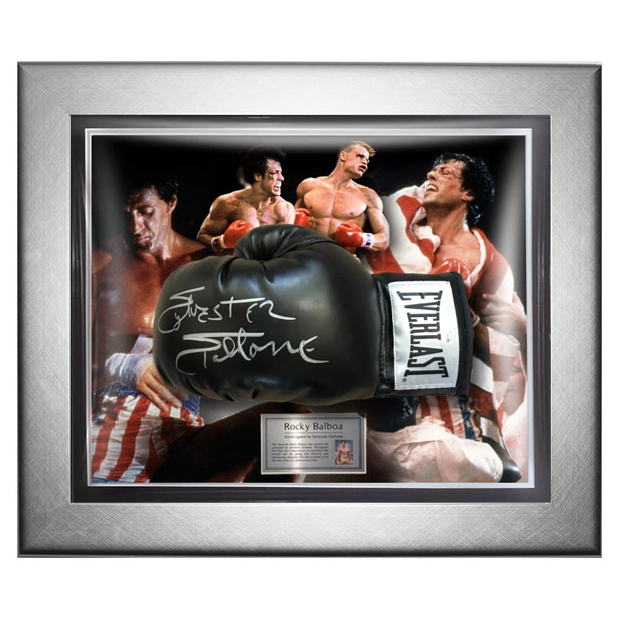 Sylvester Stallone Signed Boxing Glove – Rocky Display