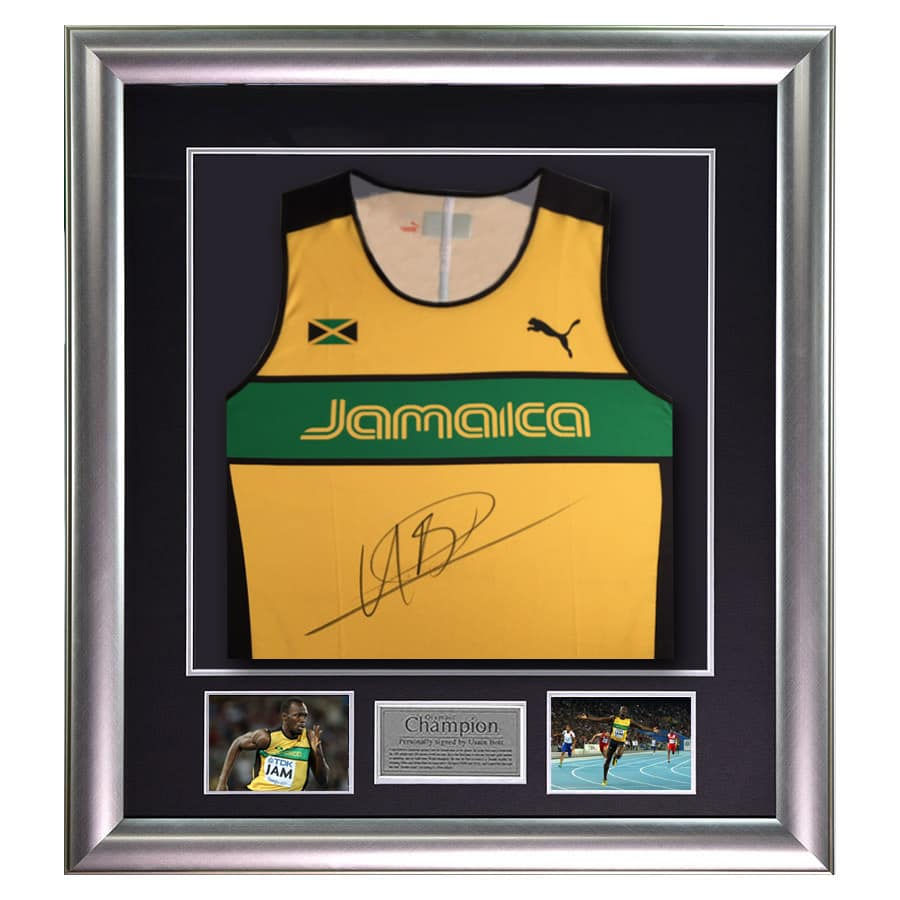 Usain Bolt Signed 2011 World Champion Jamaica Singlet