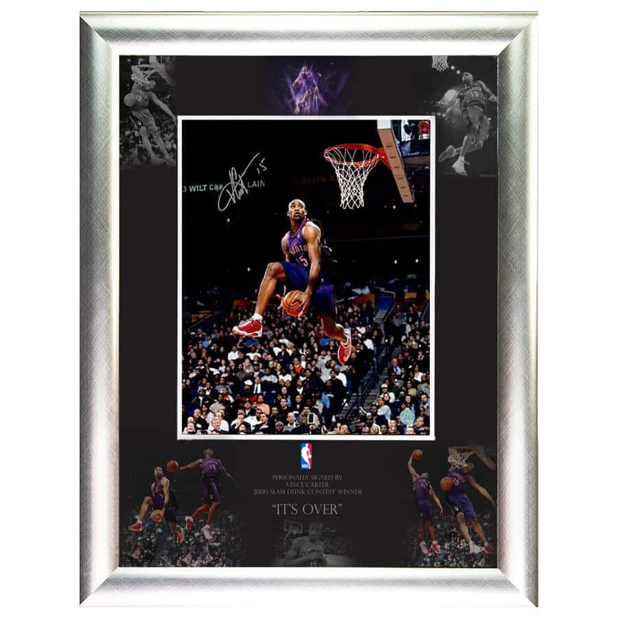 Vince Carter Signed NBA 2000 Slam Dunk Contest Photo Display