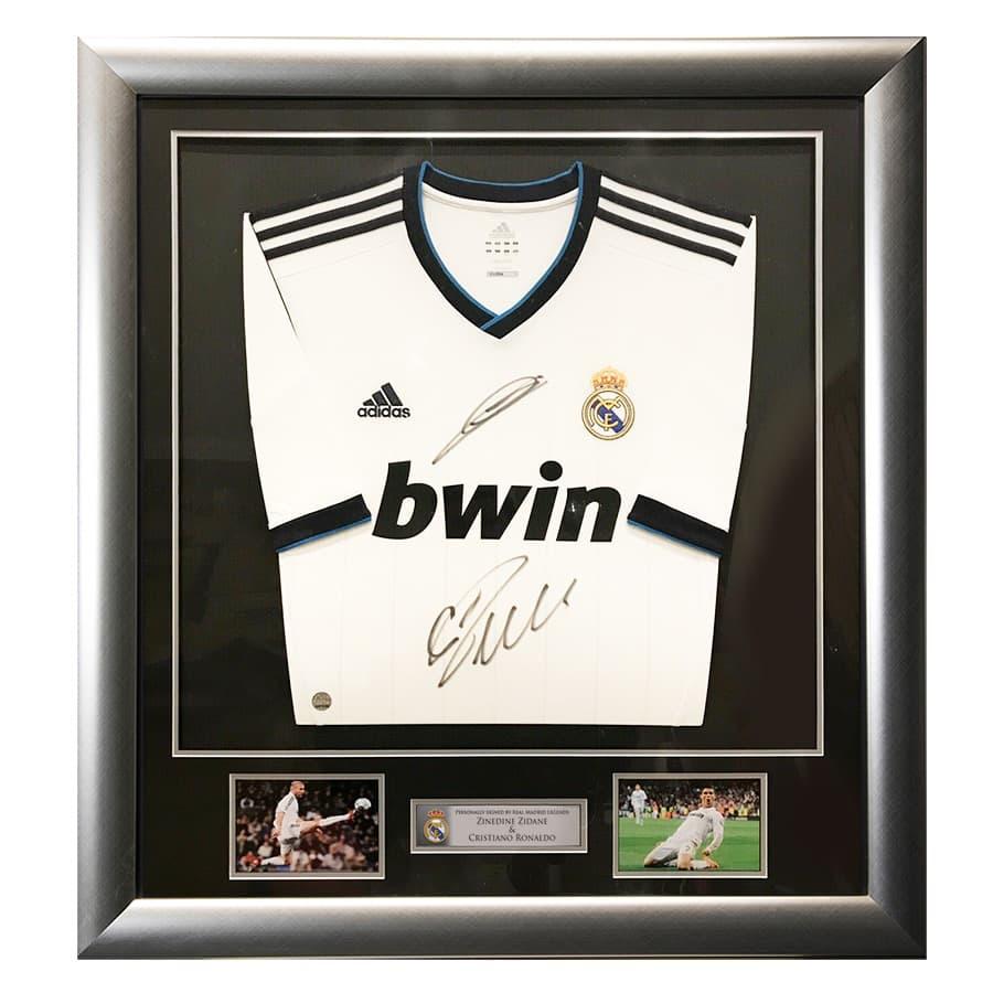 Cristiano Ronaldo & Zinedine Zidane Signed Shirt – Real Madrid