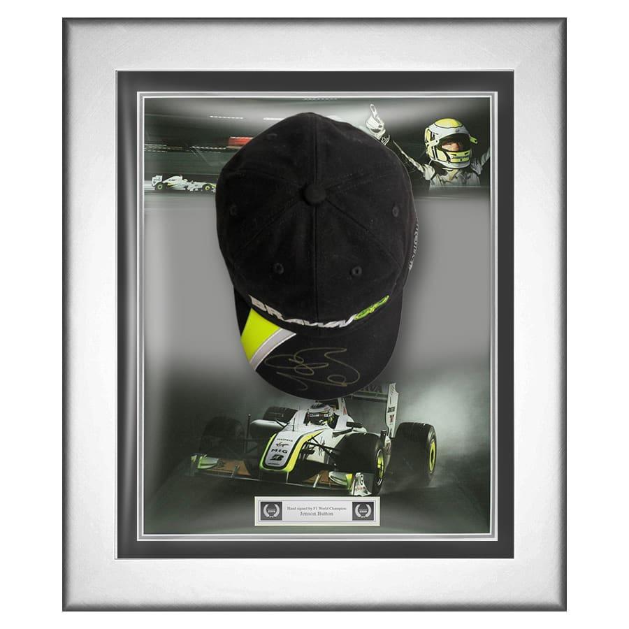 Jenson Button Signed Brawn GP Cap – Black
