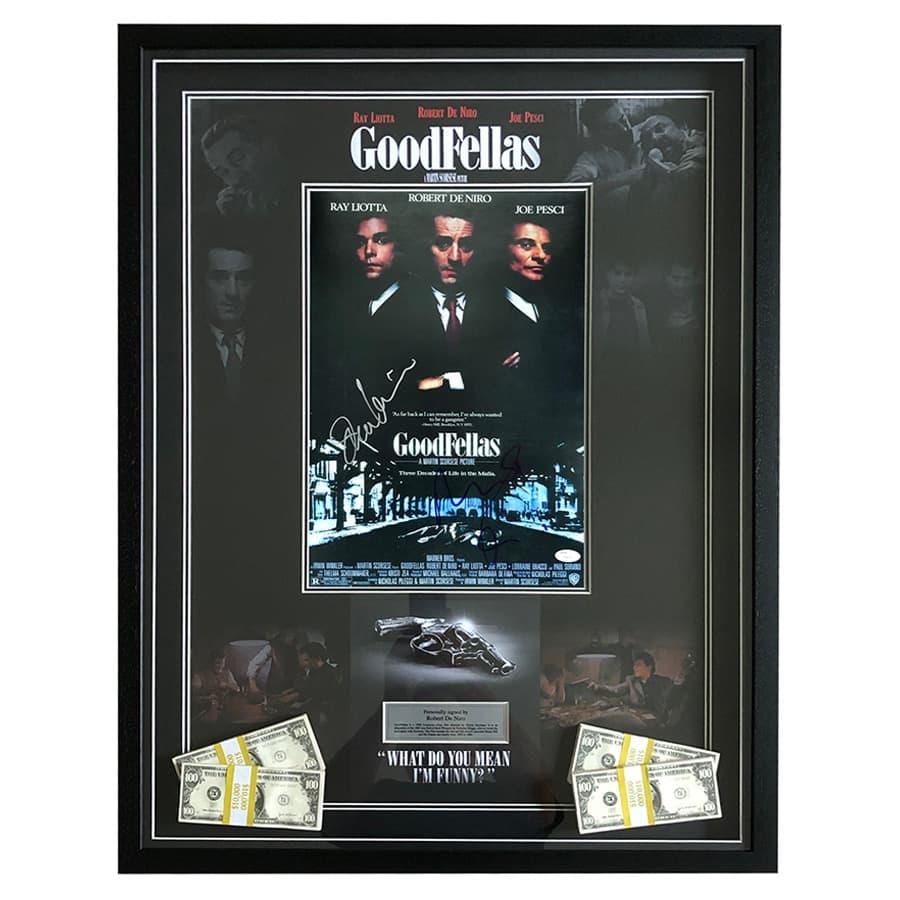 Robert De Niro Signed Goodfellas Movie Display – JSA