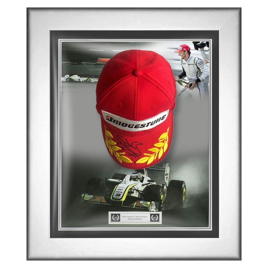 Jenson Button Signed Brawn GP Podium Cap