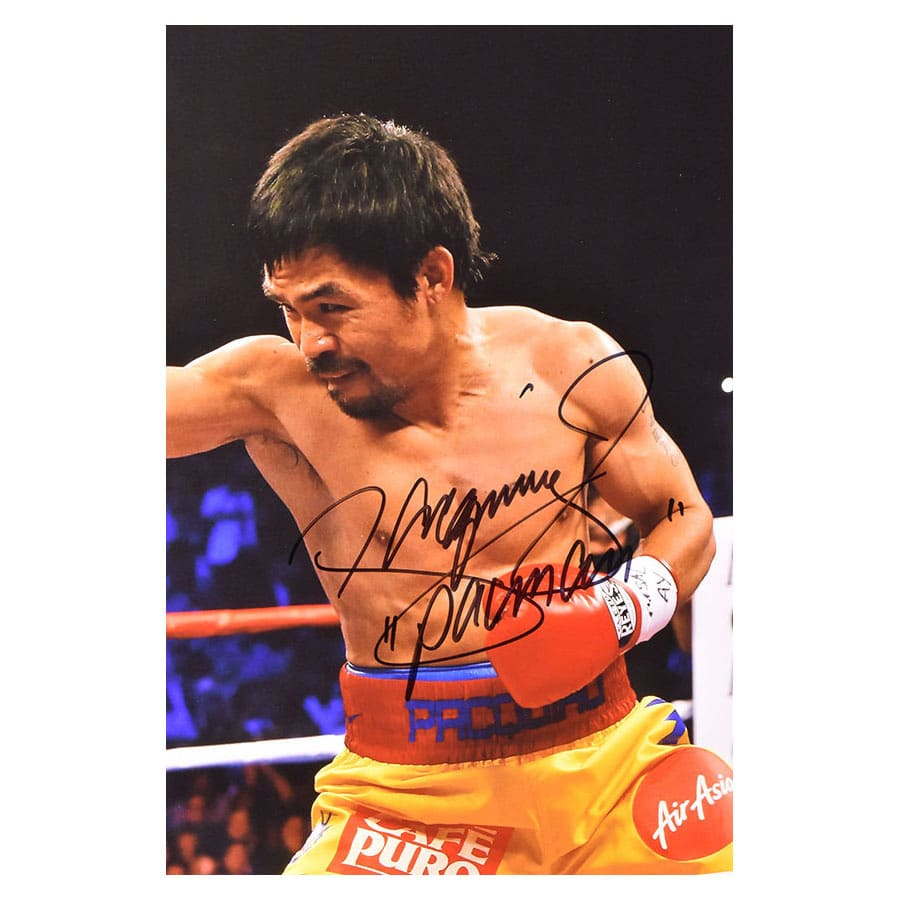 Signed Manny Pacquiao Photo Display