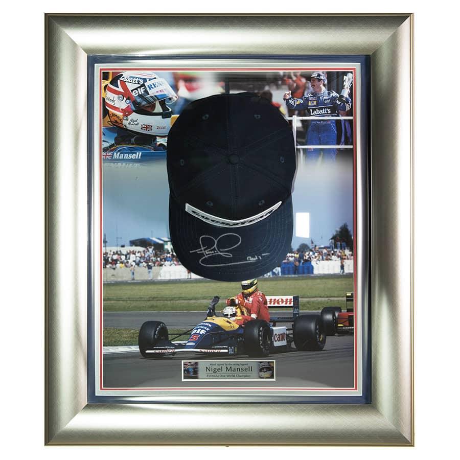 Nigel Mansell Signed Cap 1992 F1 World Champion