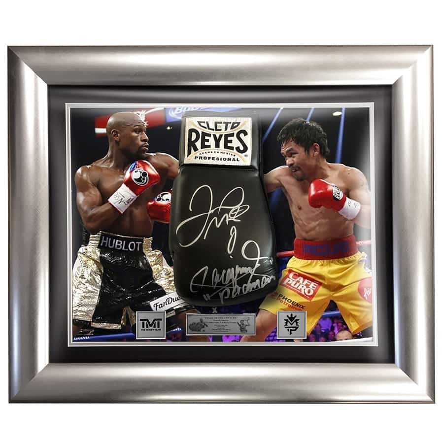 Floyd Mayweather & Manny Pacquiao Signed Boxing Glove