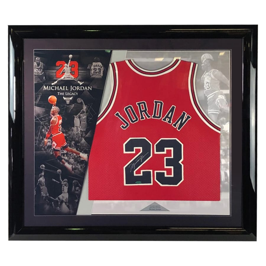 Michael Jordan Signed Chicago Bulls Jersey – Upper Deck