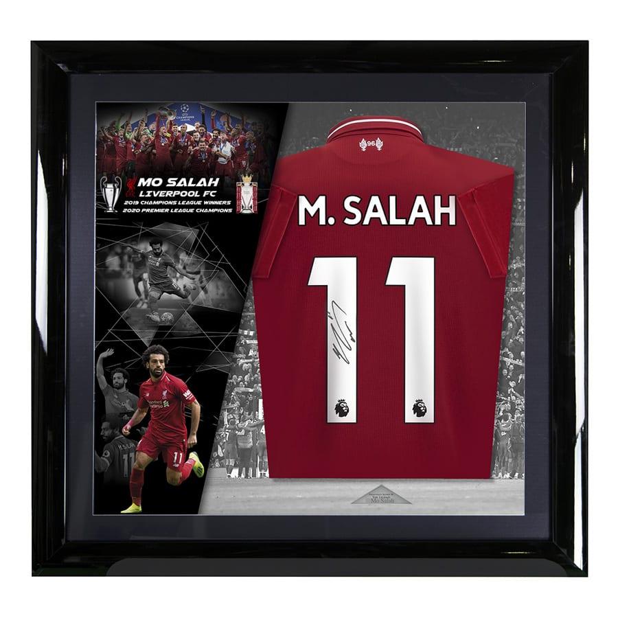 Mo Salah Signed Liverpool FC Shirt – Deluxe