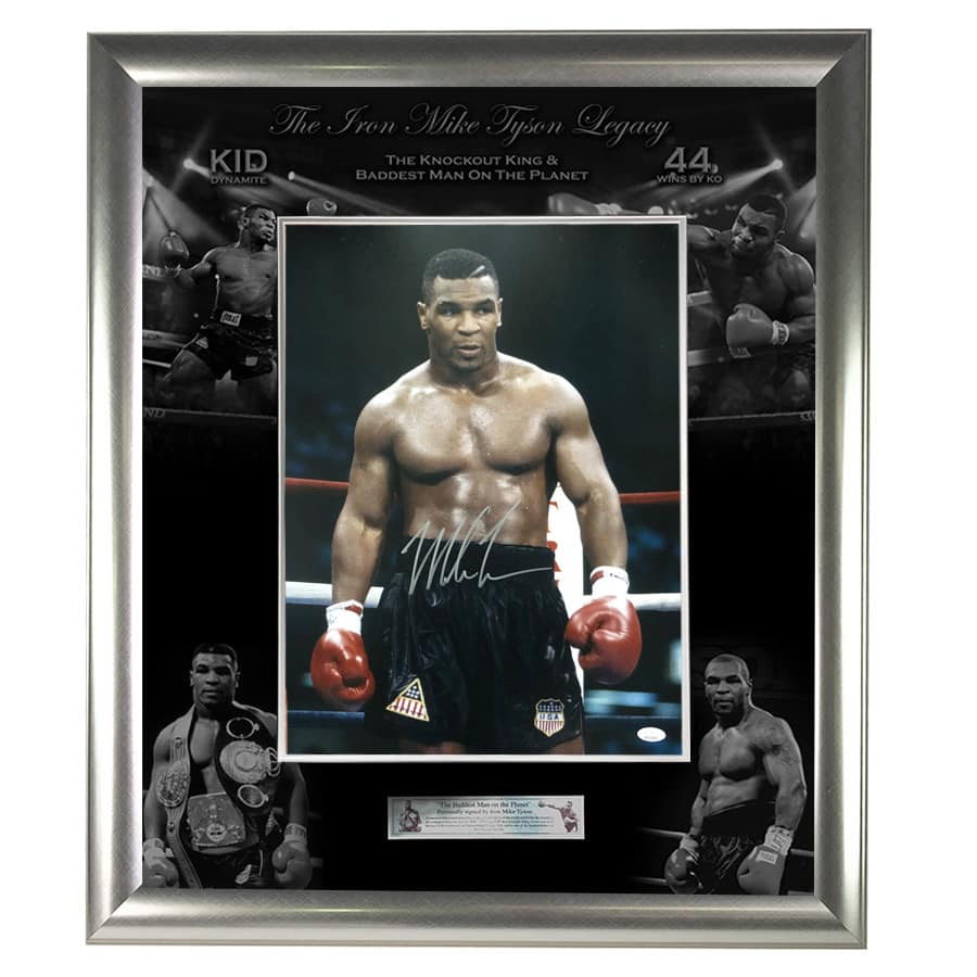Mike Tyson Signed Large Photo Display