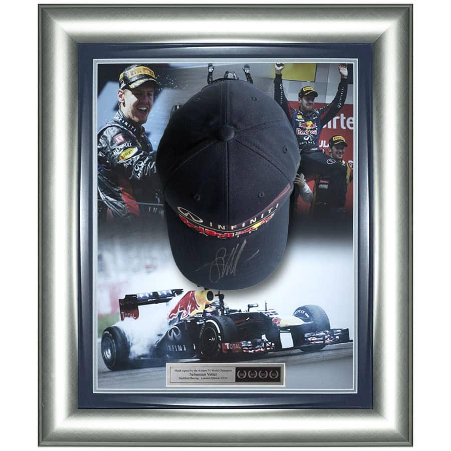 Sebastian Vettel Signed Cap Red Bull Racing