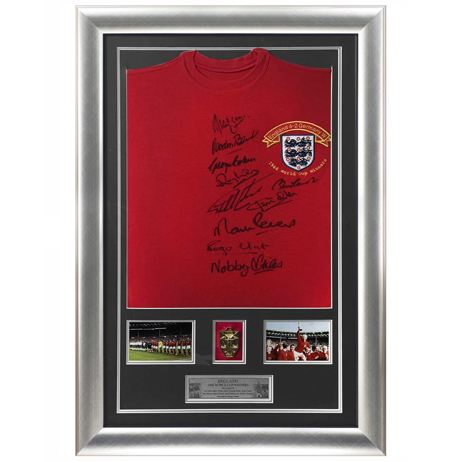 England 1966 Signed Shirt by 10 World Cup Winners