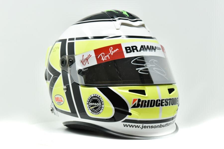 Jenson Button Signed 2009 Official Replica Bell Helmet