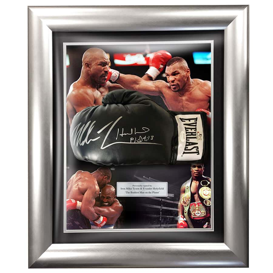 Evander Holyfield & Mike Tyson Signed Everlast Boxing Glove
