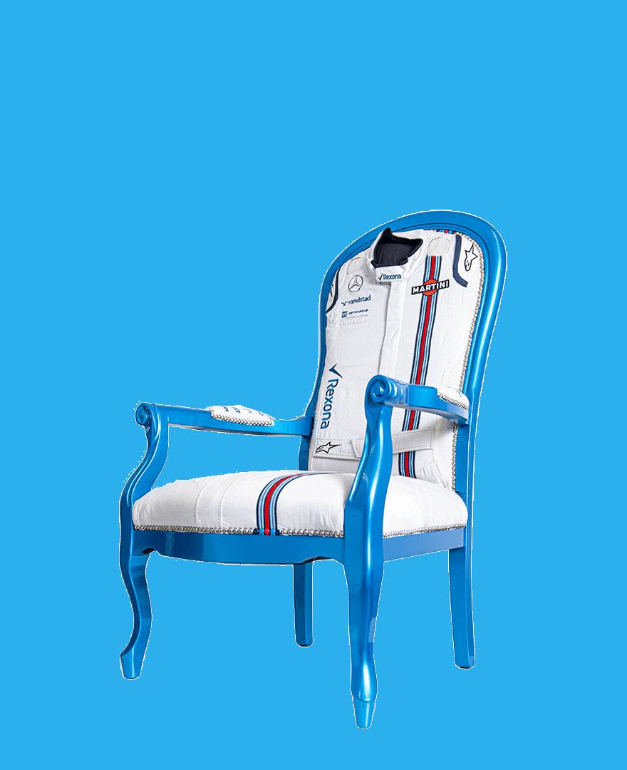 Williams Martini Racing F1 Team Suit Chair – Unique Item