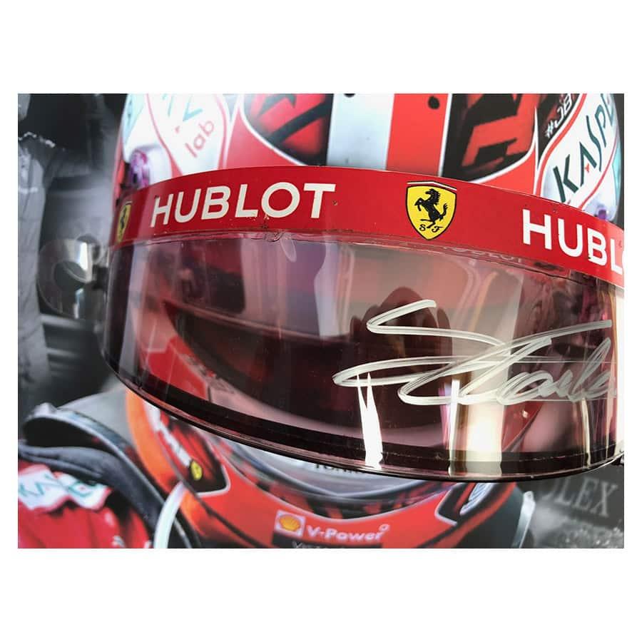 Charles Leclerc Signed & Used Race Visor – Ferrari F1