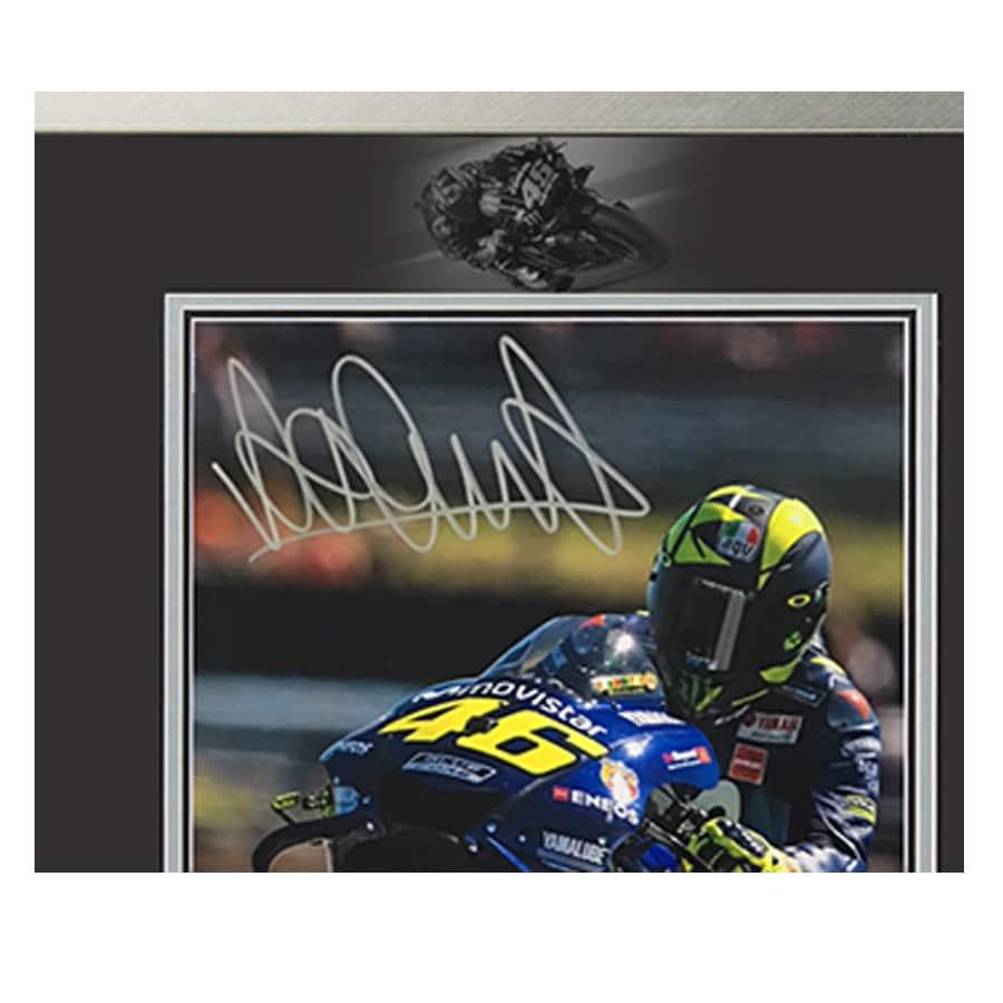 Valentino Rossi Signed Photo Display – Soleluna