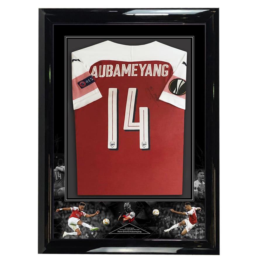 Pierre-Emerick Aubameyang Signed Match Worn Arsenal Shirt