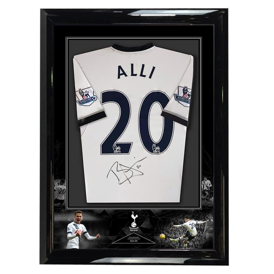 Dele Alli Signed Match Worn Spurs Shirt